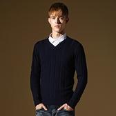 長袖針織衫-潮流百搭素面造型男針織毛衣5色73ik21【時尚巴黎】