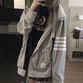 開衫拉鏈tb衛衣2020年新款女裝早秋韓版寬鬆慵懶風薄款長袖外套春