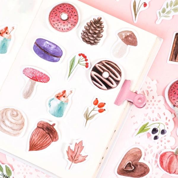 【BlueCat】甜甜匣子 盒裝貼紙 手帳貼紙 (46枚入) 貼紙