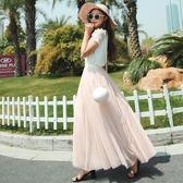 春季網紗裙 長裙蓬蓬裙夏季百褶裙