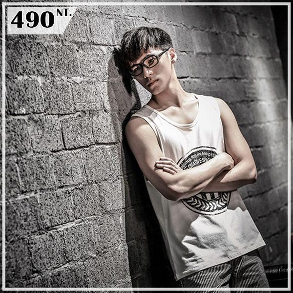 日系潮男夏日健身日文印花運動背心 坦克背心 球衣 嘻哈 街頭 無袖背心