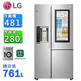 (含拆箱定位)LG樂金761公升InstaView™ 敲敲看門中門冰箱 GR-QPL88SV(預購~到貨陸續出貨)