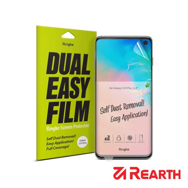 Rearth 三星 Galaxy S10 Plus滿版抗衝擊螢幕保護貼(兩片裝)