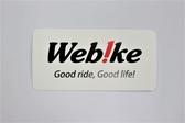 Web!ke LOGO 貼紙 - 白