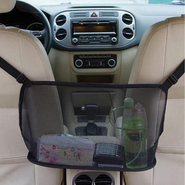 《J 精選》車用多功能座椅間收納網袋