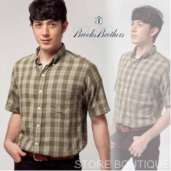 【大盤大】Brooks Brothers 綠 格紋 襯衫 日本 M號 日本百貨專櫃正品 精品 蘇格蘭 雅痞 休閒