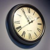 靜音掛鐘美式鄉村復古北歐家用藝術時鐘臥室客廳裝飾創意簡約鐘錶
