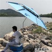 釣魚傘2.2米向防雨戶外釣傘2.4米魚傘防曬遮陽傘垂釣傘  WD 遇見生活