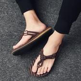 人字拖男夏季新款潮流透氣沙灘鞋涼拖時尚外穿涼鞋防滑拖鞋男潮拖