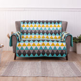 紛彩幾何防潑水沙發墊-雙人-生活工場