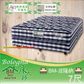 客約商品 床大師名床 純棉透氣乳膠獨立筒床墊 7尺雙人 (BM-波隆納)