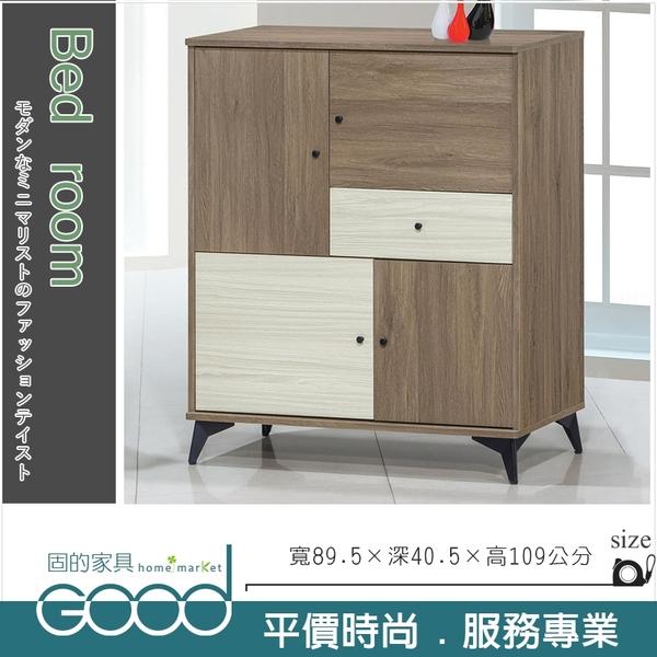 《固的家具GOOD》853-4-AV 路易士灰橡色3尺多功能收納櫃/斗櫃(806-3A)