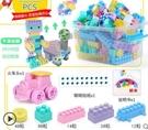 兒童塑料積木桌拼圖拼裝拼插玩具