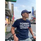 【蟹老闆】Tommy Hilfiger 男短袖 白印字 深藍