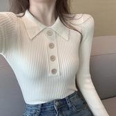 針織上衣 2020年秋冬新款修身長袖針織打底衫女內搭加絨加厚毛衣緊身上衣潮