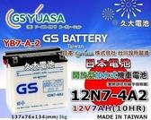 ✚久大電池❚GS 機車電池 12N7-4A2 = YB7-A-2 迎光150 FZ150 FZR150 愛將150 名箭