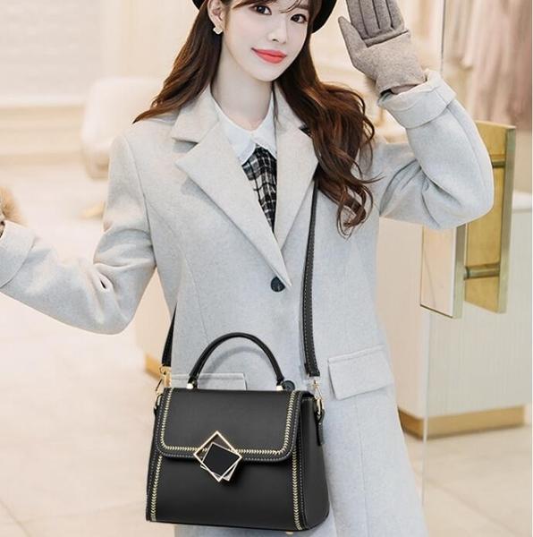 側背包ins洋氣質感包包女新款韓版時尚菱格百搭單肩斜挎小方包