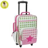 【雙12降價】德國Lassig天空星星兒童拉桿行李箱-花漾紅