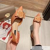 尖頭單鞋女2020夏季新款韓版黑色工作鞋百搭網紅仙女風高跟鞋  夏季新品