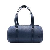 【台中米蘭站】展示新品 Louis Vuitton EPI 牛皮圓筒手提包(藍)