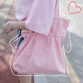 帆布單肩包學生女手提包環保購物袋