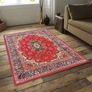 范登伯格 紅寶石輕柔絲質感地毯-踏墊-門墊-雅緻(紅)-100x140cm