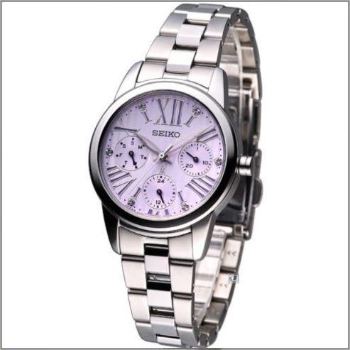 【萬年鐘錶】SEIKO LUKIA  三眼 時尚 藍寶石玻璃 不繡鋼錶 女錶 SKY723J1