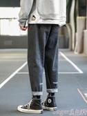 新品牛仔褲牛仔褲男寬鬆秋冬季直筒潮牌工裝長褲韓版潮流百搭褲子九分褲