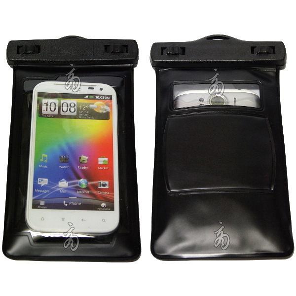 HTC Sensation XL手機防水袋加裝保護殼 運動臂袋防水套 防水帶 游泳釣魚SPA保護殼背蓋果凍套邊框能用