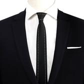 男士韓版商務西裝領帶5.5cm 黑色學生襯衫領帶女學院風細窄款潮流 深藏blue