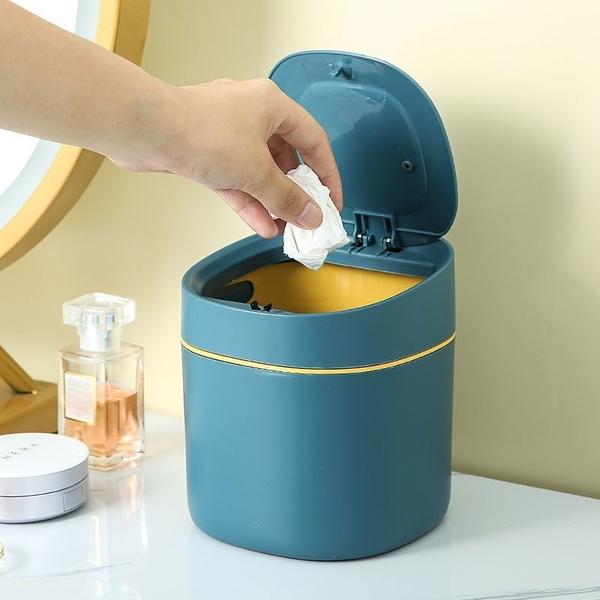 桌面按壓垃圾桶 按壓式垃圾桶 垃圾桶 迷你垃圾桶 辦公室垃圾桶 彈蓋垃圾桶【RS1226】