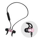重低音磁吸藍牙運動耳機(玫瑰金)【BF0020】