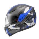 【東門城】ZEUS ZS3300 GG25(消光黑藍) 可掀式安全帽 雙鏡片