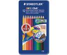 德國施德樓STAEDTLERNoris Club標準型六角筆桿色鉛筆12色組3mm*MS14410M12
