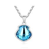 水晶項鍊+925純銀吊墜-造型設計生日母親節禮物女飾品4色73bb251【時尚巴黎】