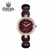 法國 BIBA 碧寶錶 純粹晶瓷系列 藍寶石玻璃 石英錶 B31TC050T 咖啡色 - 28mm