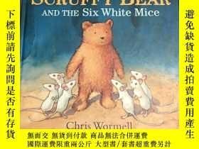 二手書博民逛書店精裝大開本Scruffy罕見Bear and the Six W