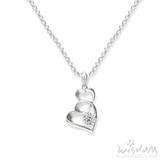 威世登 心心相印鑽石墜飾(不含鍊) 結婚推薦 情人節禮物 DD03083-ABHXX