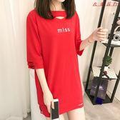 中長款短袖T恤女夏裝女士韓版T恤裙