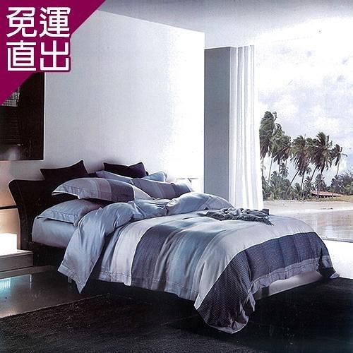 Indian 新科技天絲吸濕排汗雙人兩用被床包四件組-海風 5*6.2【免運直出】