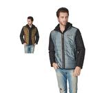 【SAMLIX 山力士】男 美國PRIMALOFT超輕暖保溫棉假兩件外套(#67515卡其色.灰綠色)