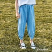 男女童防蚊褲冰絲牛仔褲薄款2020新款夏季中大兒童休閒褲子九分褲 多莉絲旗艦店