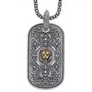 《 QBOX 》FASHION 飾品【C17S155】精緻個性歐美復古皇室獅子吊牌S925純銀項鍊/泰銀吊墜