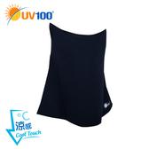 UV100 防曬 抗UV-涼感彈力面罩-馬尾洞