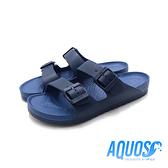 G.P AQUOS雙色雙帶柏肯防水拖鞋 男鞋-深藍