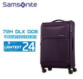 Samsonite 新秀麗 72H DLX DC6 世界極輕2.4kg 雙軌輪 大容量 布面可擴充 26吋行李箱 (81T升級版)