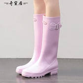 時尚雨鞋女成人高筒水靴女士水鞋夏季可愛雨靴防滑套鞋膠鞋