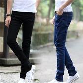牛仔褲 夏季男士牛仔褲修身型長褲秋天男裝青少年彈力小腳褲