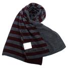 Calvin Klein新款CK橫紋保暖圍巾(酒紅色)103210-3