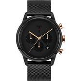【台南 時代鐘錶 TYLOR】自由探索精神 風格多變三眼計時腕錶 TLAC010 米蘭帶 43mm